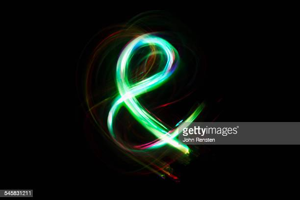 Lights making ampersand