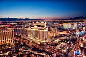 Lights of Las Vegas at night