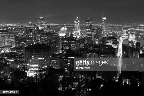 Lights on Montreal City at Night