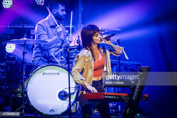Lights performs at the Canadian Tire Centre on April 21 2015 in Ottawa Canada