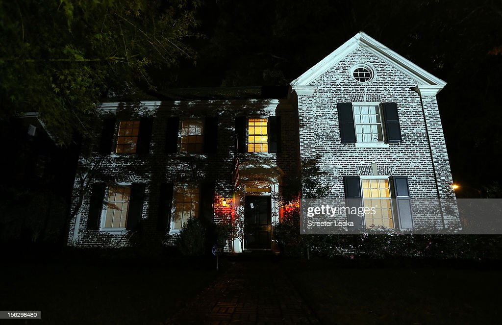 Lights remain on inside the home of Paula Broadwell after a FBI search on November 13, 2012 in the Dilworth neighborhood of Charlotte, North Carolina. Broadwell is the recently discovered mistress of CIA Director David Petraeus, which has led to his resignation in light of the scandal.