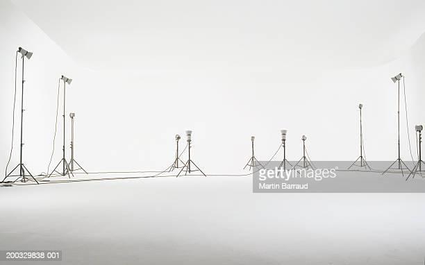 Lights set up in studio