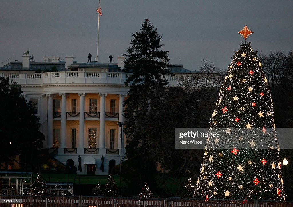 Dc Christmas Tree Part - 47: Lights Shine On The National Christmas Tree In Front Of The White House On  December 1