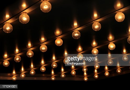 lights under theatre marquee sign stock photo getty images