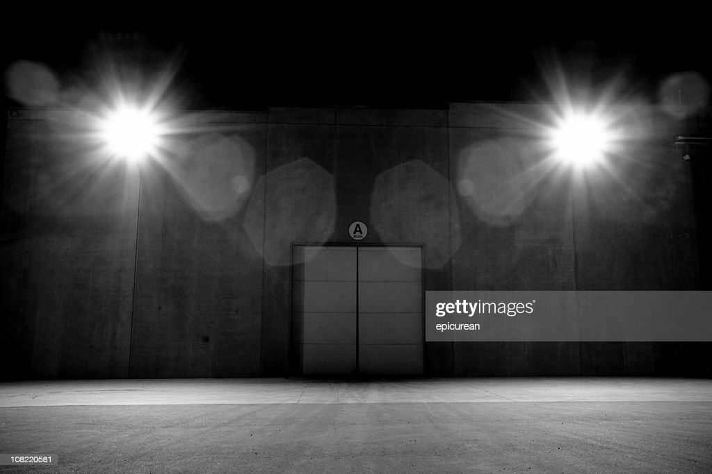 Lights with Double Doors, Black and White : Stock Photo