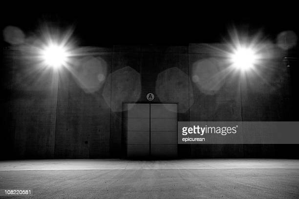 Lights with Double Doors, Black and White