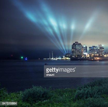 Lightshow in Halifax