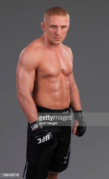 Lightweight fighter Dennis Siver of Germany poses for a portrait on July 3 2008 in Las Vegas Nevada