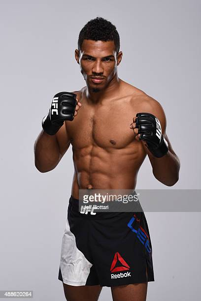 UFC lightweight Kevin Lee poses for a portrait during a UFC photo session at the Hyatt Regency Mission Bay on July 12 2015 in San Diego California