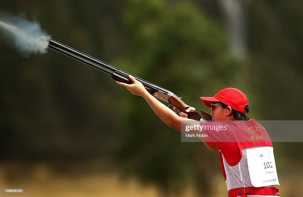 Ligli Kang of China competes in the Womens skeet during day three of the 2013 Australian Youth Olympic Festival at the Sydney International Shooting Centre on January 18, 2013 in Sydney, Australia.