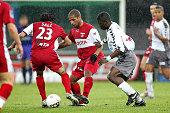 Ligue 2 Soccer Championship season 20052006 Valenciennes vs Sedan Jose Saez Eric Chelle and Marcus Mokake Mwambo