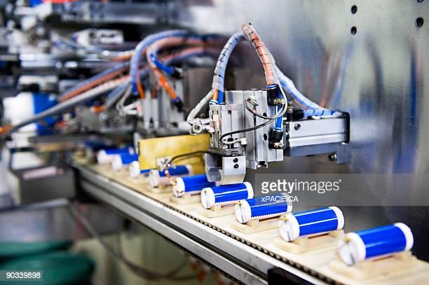 A li-ion battery production line.