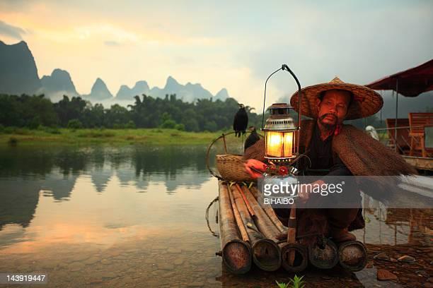 麗江の漁師