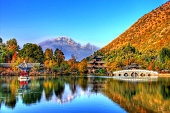 Lijiang painted lake