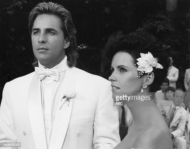 VICE 'Like a Hurricane' Episode 8 Pictured Don Johnson as Det James 'Sonny' Crockett Sheena Easton as Caitlin Davies Photo by NBCU Photo Bank