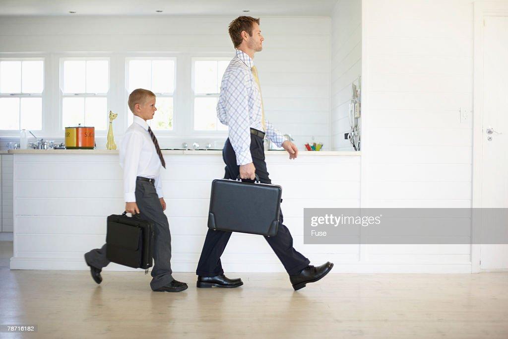 Like Father Like Son Stockfoto