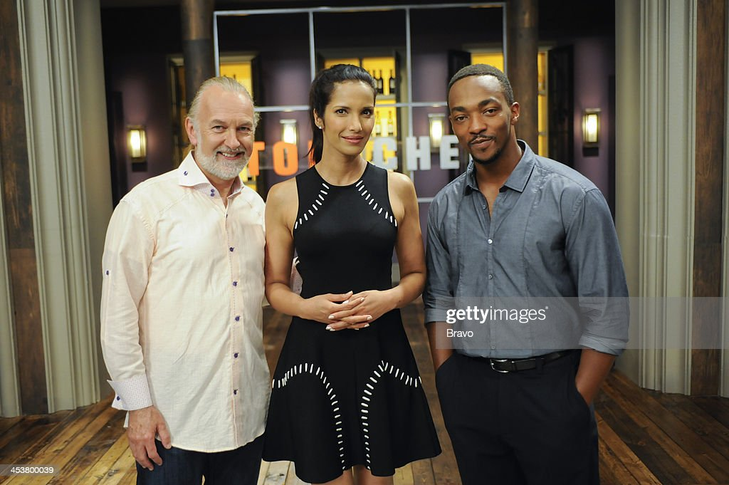 TOP CHEF -- 'Like Mama Made' Episode 1110 -- Pictured: (l-r) Judges Hubert Keller, <a gi-track='captionPersonalityLinkClicked' href=/galleries/search?phrase=Anthony+Mackie&family=editorial&specificpeople=206212 ng-click='$event.stopPropagation()'>Anthony Mackie</a>, <a gi-track='captionPersonalityLinkClicked' href=/galleries/search?phrase=Padma+Lakshmi&family=editorial&specificpeople=201593 ng-click='$event.stopPropagation()'>Padma Lakshmi</a> --