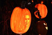 Likenesses of members of The Kardashian family are carved into Jack O'Lanterns and the 'Rise Of The Jack O'Lantern'' exhibition at Descanso Gardens...