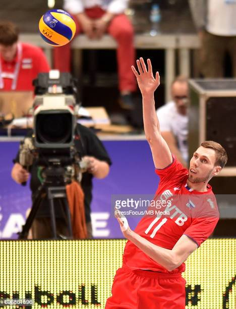 Likhosherstov Vadym during the FIVB Volleyball World League 2017 match between Poland and Russia at Spodek on June 15 2017 in Katowice Poland
