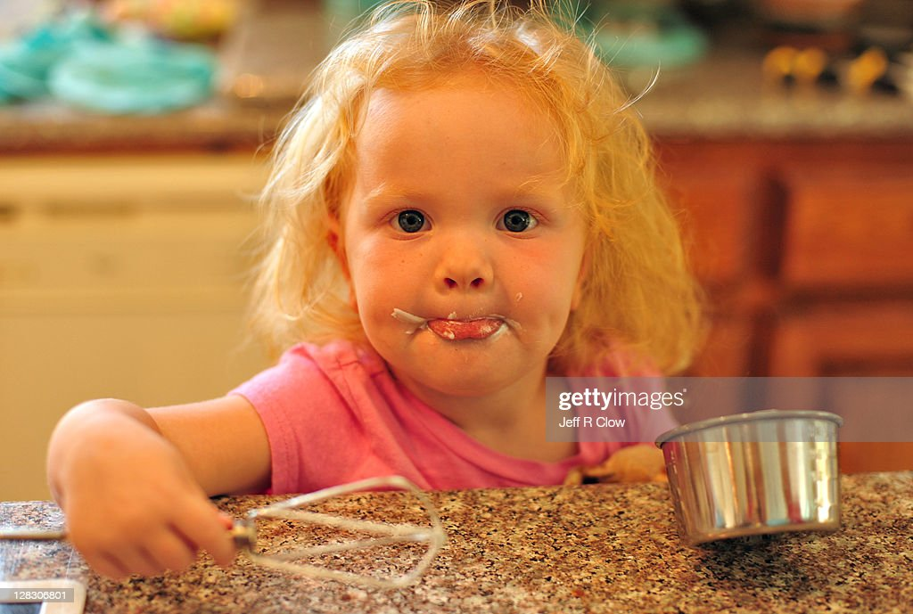 Liking icing : Stock Photo