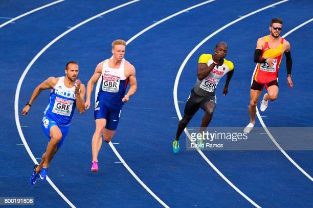 LikourgosStefanos Tsakonas of Greece Sam Miller of Great Britain Aleixo Platini Menga of Germany and Oscar Husillos of Spain compete in the Men's...