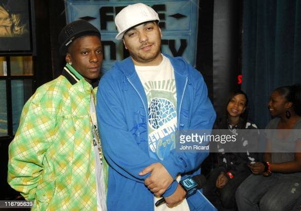 Lil' Boosie and host Cipha Sounds during Fantasia and Lil' Boosie Visit MTV's 'Sucker Free' January 23 2007 at MTV Studios in New York City New York...