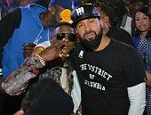 Lil Boosie and Kenny Burns at Club Compound on November 29 2014 in Atlanta Georgia