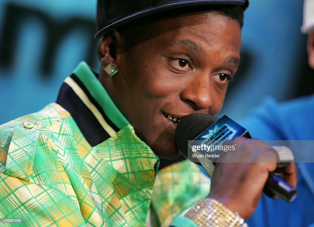 <a gi-track='captionPersonalityLinkClicked' href=/galleries/search?phrase=Lil+Boosie&family=editorial&specificpeople=1295943 ng-click='$event.stopPropagation()'>Lil Boosie</a> appears onstage during a taping of MTV's Sucker Free at MTV studios in Times Square on January 23, 2007 in New York City.