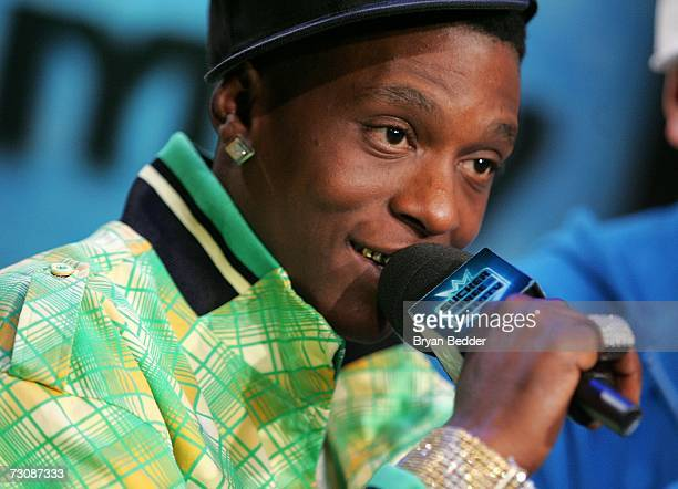 Lil Boosie appears onstage during a taping of MTV's Sucker Free at MTV studios in Times Square on January 23 2007 in New York City