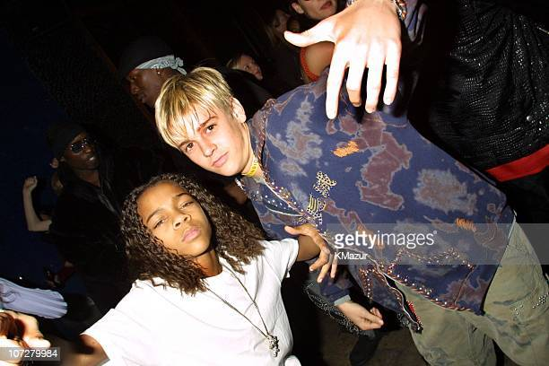 Lil' Bow Wow and Aaron Carter during The 28th Annual American Music Awards Columbia Records After Party at Las Palmas in Hollywood California United...