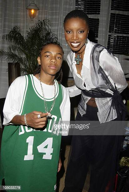 Lil' Bow Wow and Heather Headley during 2002 Essence Awards Backstage Creations Talent Retreat at Universal Amphitheater in Universal City California...