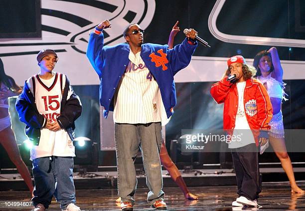 Lil' Bow Wow Sean 'P Diddy' Combs and Lil' Romeo perform at the 29th Annual American Music Awards January 9 2002 at the Shrine Auditorium in Los...