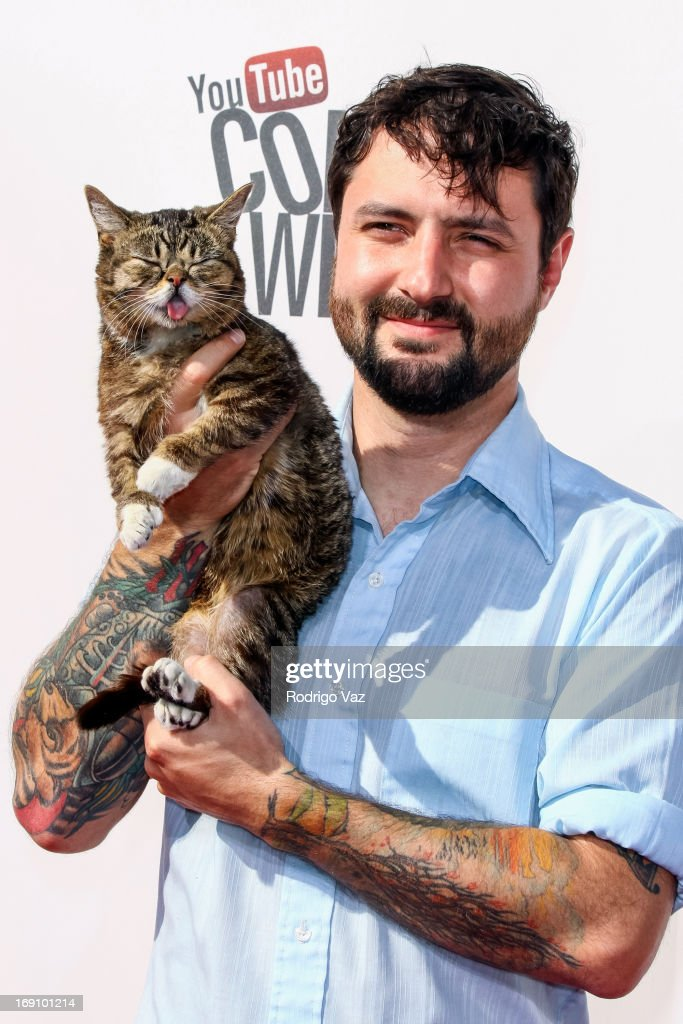 Lil Bub arrives at the YouTube Comedy Week Presents 'The Big Live Comedy Show' at Culver Studios on May 19, 2013 in Culver City, California.