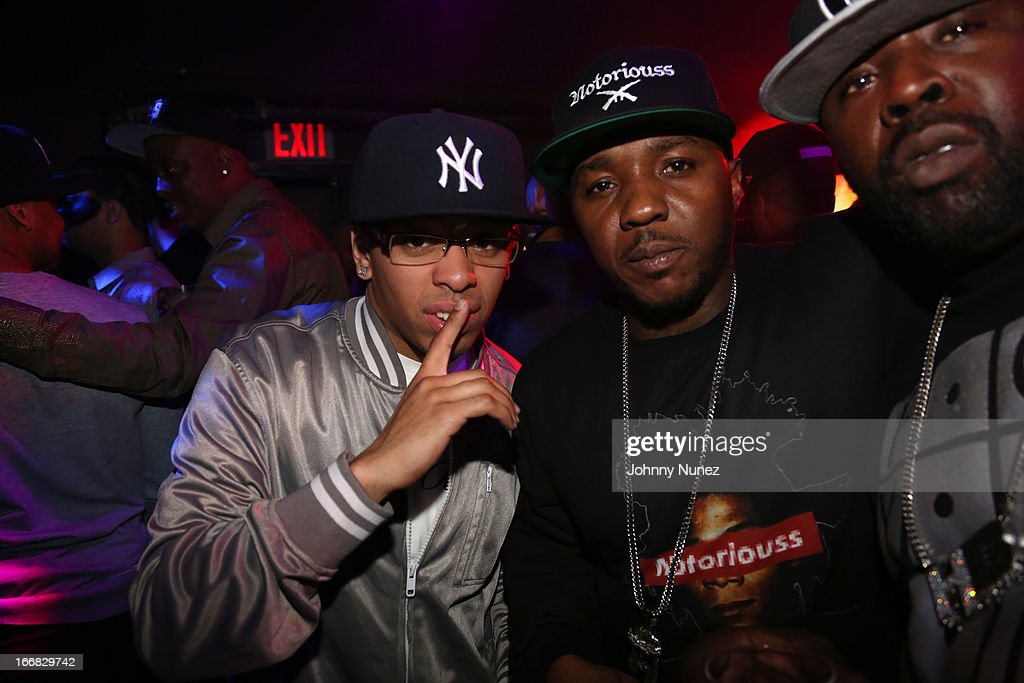 Lil' Cease (C) attends the 2nd Annual DJ Prostyle Birthday Bash after party at Stage 48 on April 16, 2013, in New York City.