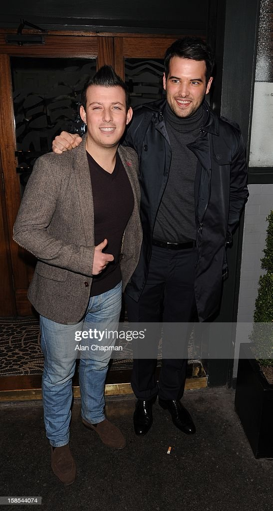Lil Chris and Ricky Rayment sighting at the Groucho Club on December 18, 2012 in London, England.