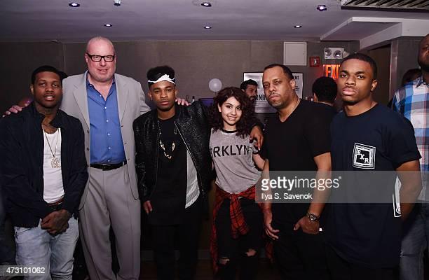 Lil Durk Def Jam CEO Steve Bartels Elijah Blake Alessia Cara Def Jam EVP Dion 'No ID' Wilson and Vince Staples attend the Def Jam Upfronts 2015...