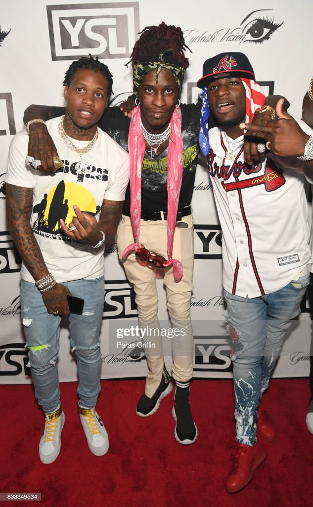 Lil Durk, Young Thug, and Ralo at Young Thug Private Birthday Celebration at Tago International on August 16, 2017 in Atlanta, Georgia.