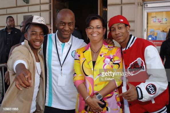 Li'l JJ Stephen Hill BET Senior Vice President of Music Programming and Talent Debra Lee President and COO of BET and Brandon T Jackson