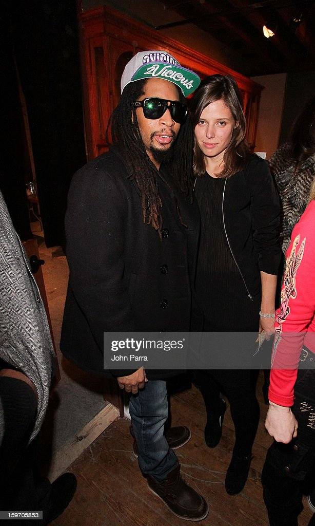 <a gi-track='captionPersonalityLinkClicked' href=/galleries/search?phrase=Lil+Jon+-+Rappare&family=editorial&specificpeople=202659 ng-click='$event.stopPropagation()'>Lil Jon</a> and Emily Kai Bock attend the Nokia Music, SPIN, Sundance Channel and SomeSuch & Co Present New American Noise on January 18, 2013 in Park City, Utah.