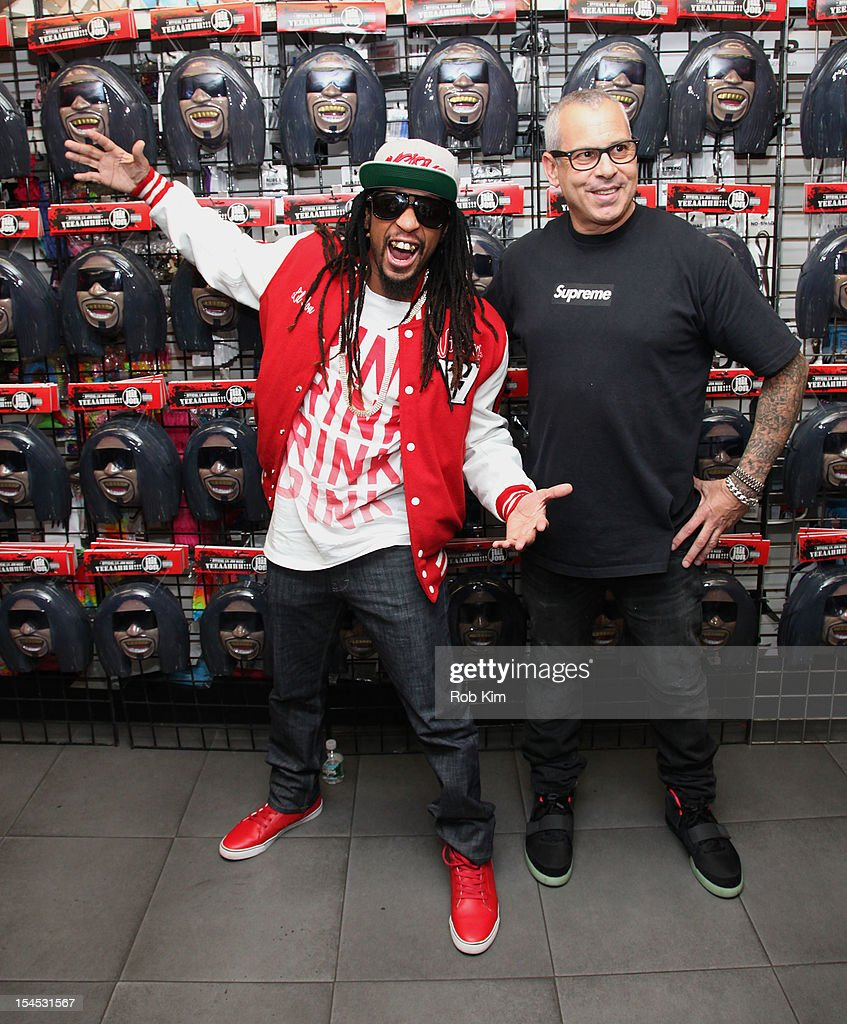 Lil Jon and founder of Ricky's, Ricky Kenig (R) attend the 'Celebrity Apprentice All Star' contestant meet & greet at Ricky's Soho on October 21, 2012 in New York City.