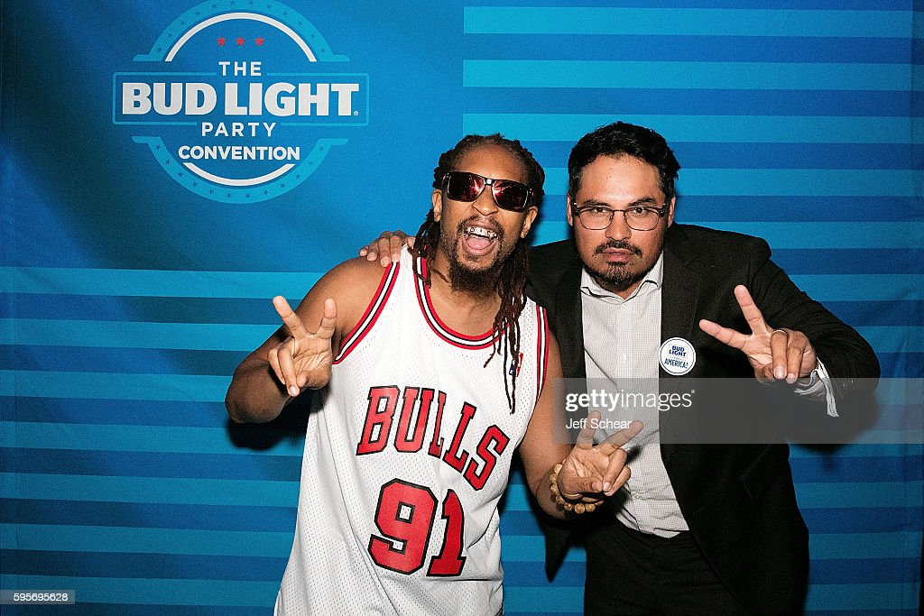 Lil Jon and Michael Pena attend the Bud Light Party Convention Chicago at Joe's Live Rosemont on August 25 2016 in Rosemont Illinois Bud Light...