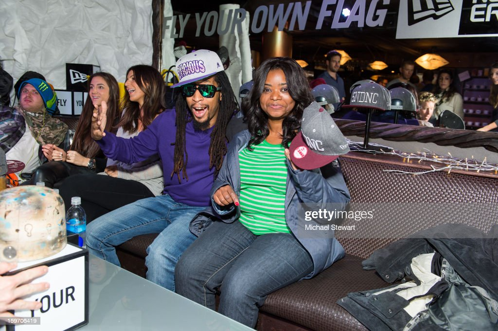 Lil Jon (L) and Octavia Spencer attend Oakley Learn To Ride In Collaboration With New Era - Day 1 - 2013 Park City on January 18, 2013 in Park City, Utah.