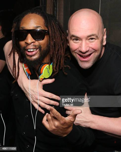 Lil Jon and UFC President Dana White at LAVO NYC on January 30 2014 in New York City