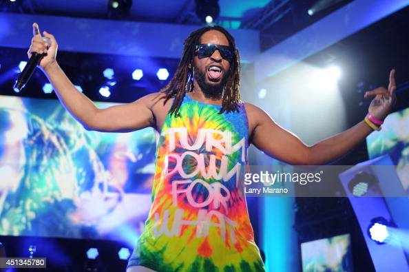 Lil Jon performs onstage at the iHeartRadio Ultimate Pool Party presented by VISIT FLORIDA at Fontainebleau's BleauLive at Fontainebleau Miami Beach...