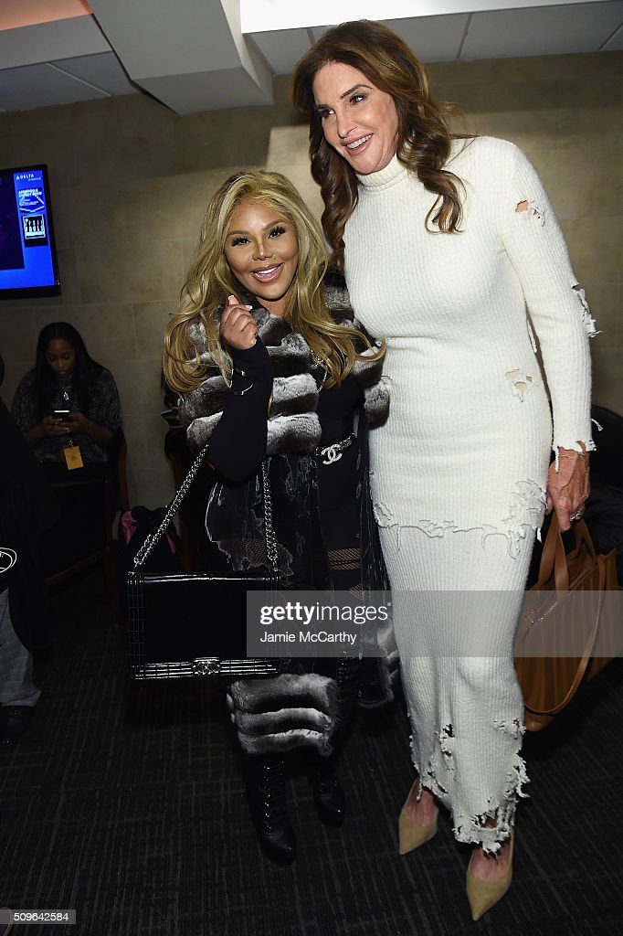Lil' Kim and Caitlyn Jenner attend Kanye West Yeezy Season 3 on February 11, 2016 in New York City.