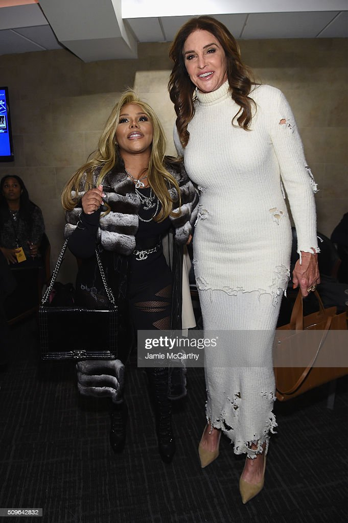 <a gi-track='captionPersonalityLinkClicked' href=/galleries/search?phrase=Lil%27+Kim&family=editorial&specificpeople=202942 ng-click='$event.stopPropagation()'>Lil' Kim</a> and <a gi-track='captionPersonalityLinkClicked' href=/galleries/search?phrase=Caitlyn+Jenner&family=editorial&specificpeople=14645183 ng-click='$event.stopPropagation()'>Caitlyn Jenner</a> attend Kanye West Yeezy Season 3 on February 11, 2016 in New York City.