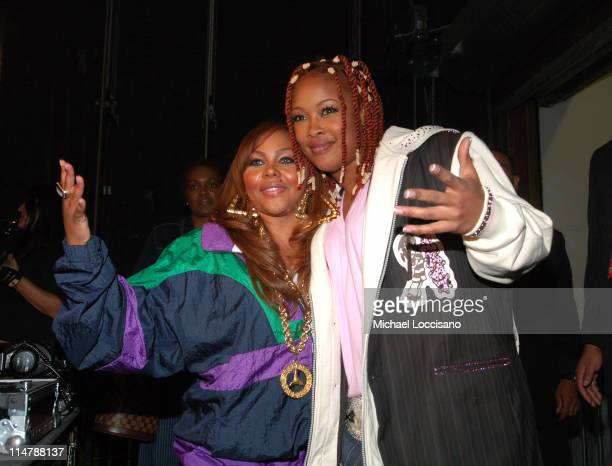 Lil Kim and Da Brat during 2006 VH1 Hip Hop Honors Backstage and Audience at Hammerstein Ballroom in New York City New York United States