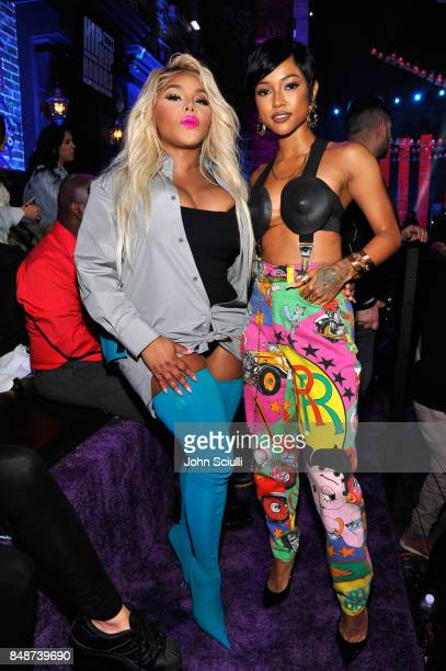 Lil' Kim and Karrueche Tran attend VH1 Hip Hop Honors The 90s Game Changers at Paramount Studios on September 17 2017 in Los Angeles California