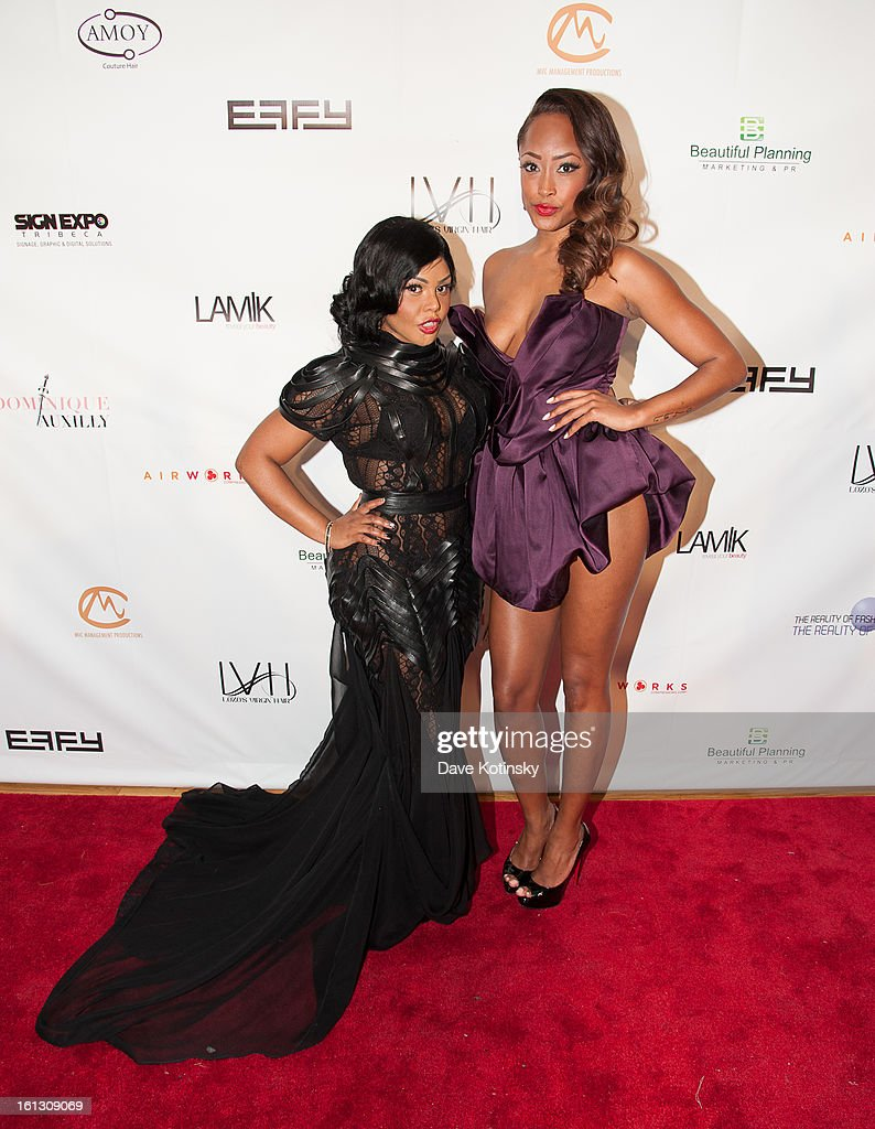 Lil' Kim and Keenyah Hill attends 'The Reality Of Fashion, The Reality Of AIDS' Benefit during Fall 2013 Fashion Week at Altman Building on February 9, 2013 in New York City.