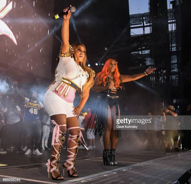 Lil Kim and Remy Ma perform at HOT 97 Summer Jam 2017 at MetLife Stadium on June 11 2017 in East Rutherford New Jersey